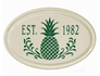 Whitehall Pineapple Ceramic Oval - One Line Petite Wall Plaque - Green