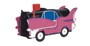 Pink Caddy Novelty Mailbox