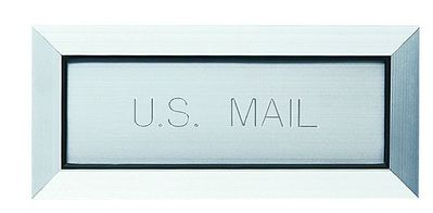 Letter Drop Mail Slot with Engraved 'U.S. Mail' Premium