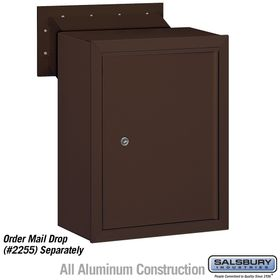 Salsbury 2256BRZ Private Access Bronze Receptacle - Mail Drop Option