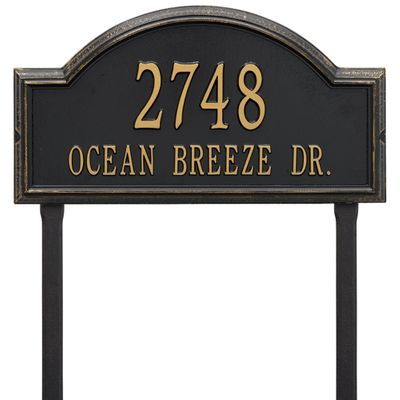 Providence Arch Estate Lawn Address Sign - Two Line