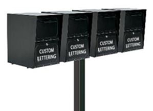 Quadruple Locking Curbside Standard In-Ground Post System (Mailboxes Purchased Separately)