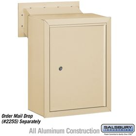 Salsbury 2256SAN Receptacle - Option for Mail Drop - Sandstone