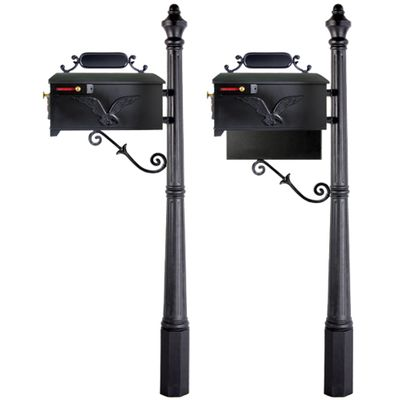 Residential Mailbox System with Eagle Mailbox
