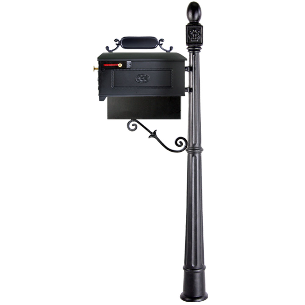 Imperial Mailbox Systems | Residential Mailbox System With Fleur De Lis  Mailbox And Newspaper Holder | Residential Mailbox