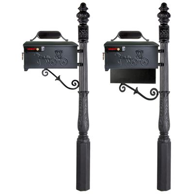 Residential Mailbox System with Horse and Buggy Mailbox