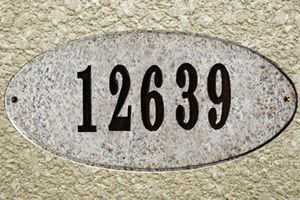 Rockport Oval Solid Granite Address Plaque With Engraved Text - Sand Natural