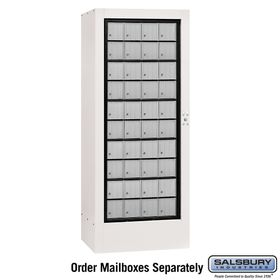 Salsbury 3100WHP Rotary Mail Center - Aluminum Style - White - Private Access