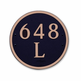 Dekorra Products 648 Large Round and Oval Address Plaques