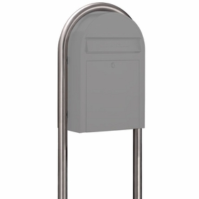 USPS Bobi Stainless Steel Round Mailbox Post
