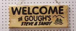 """Routered 3-Line Sign (7"""" x 21"""")"""