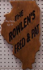 """Routered State Sign 11"""" x 20"""""""