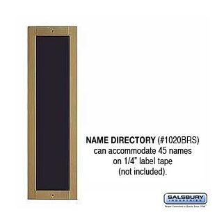 Salsbury 1020BRS Name Directory
