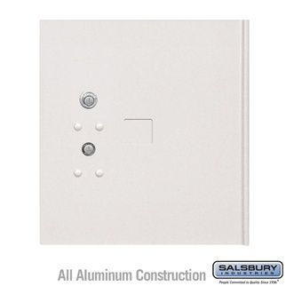 Salsbury 3354WHT Replacement Parcel Locker Door and Tenant Lock for Cluster Box Unit
