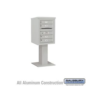 Salsbury 3406S-04GRY 4C Pedestal Mailboxes 4 Tenant Doors