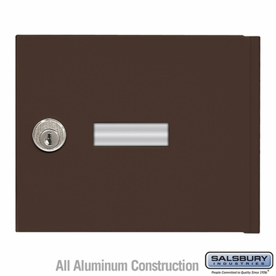 Salsbury 3651BRZ 4B+ Mailbox Replacement Door and Lock with 2 Keys