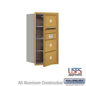 Salsbury 3708S-03GFU 4C Mailboxes 3 Tenant Doors Front Loading