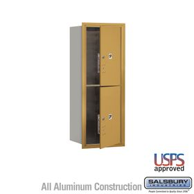 Salsbury 3710S-2PGFU 4C Mailboxes 2 Parcel Lockers Front Loading