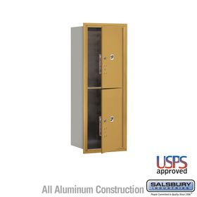 Salsbury 3712S-2PGFU 4C Mailboxes 2 Parcel Lockers Front Loading