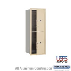 Salsbury 3712S-2PSFU 4C Mailboxes 2 Parcel Lockers Front Loading