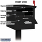 Salsbury 4325BLK Roadside Mailbox - Front And Rear Access - Black