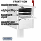 Salsbury 4350WHT Mail Chest Front And Rear Access White