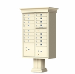 Classic Decorative CBU Mailboxes - 16 Doors 2 Parcel Units