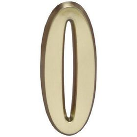 "Whitehall Satin Brass 4.75"" House Address Numbers Number ""0"""