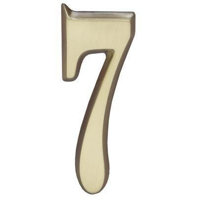 """Whitehall Satin Brass 4.75"""" House Address Numbers Number """"7"""""""