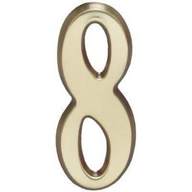 "Whitehall Satin Brass 4.75"" House Address Numbers Number ""8"""
