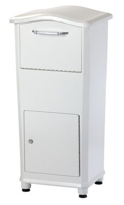 Secure Elephant Trunk Locking Mailbox for Parcel Delivery in White