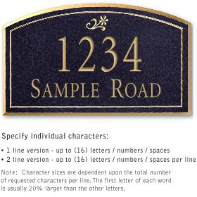 Salsbury 1422BGGS Signature Series Address Plaque