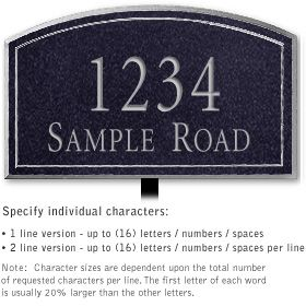 Salsbury 1422BSNL Signature Series Address Plaque