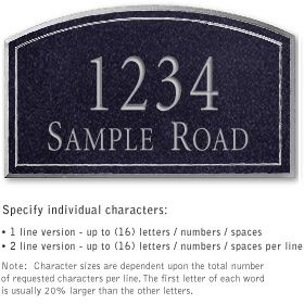 Salsbury 1422BSNS Signature Series Address Plaque