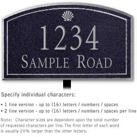 Salsbury 1422BSSL Signature Series Address Plaque