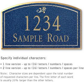 Salsbury 1422CGDS Signature Series Address Plaque