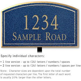 Salsbury 1422CGNL Signature Series Address Plaque