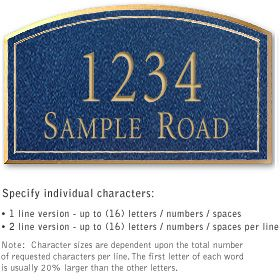 Salsbury 1422CGNS Signature Series Address Plaque