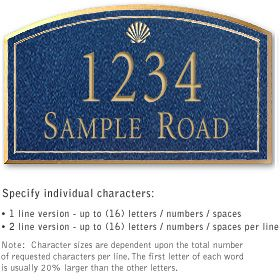 Salsbury 1422CGSS Signature Series Address Plaque