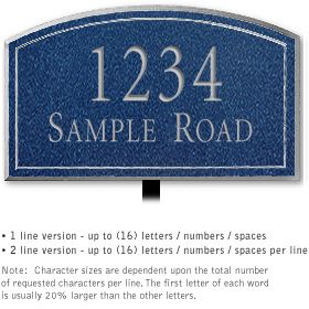 Salsbury 1422CSNL Signature Series Address Plaque