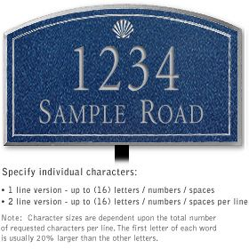 Salsbury 1422CSSL Signature Series Address Plaque