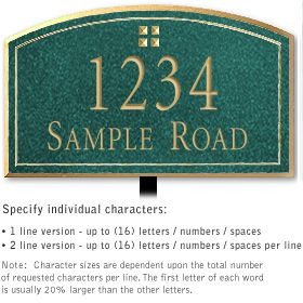 Salsbury 1422JGGL Signature Series Address Plaque