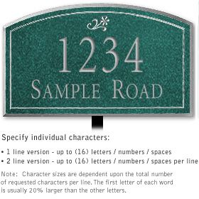 Salsbury 1422JSDL Signature Series Address Plaque