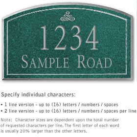 Salsbury 1422JSIS Signature Series Address Plaque