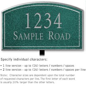 Salsbury 1422JSNL Signature Series Address Plaque