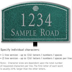 Salsbury 1422JSSL Signature Series Address Plaque