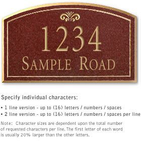 Salsbury 1422MGFS Signature Series Address Plaque
