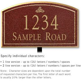 Salsbury 1422MGIL Signature Series Address Plaque