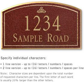 Salsbury 1422MGIS Signature Series Address Plaque