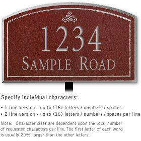 Salsbury 1422MSFL Signature Series Address Plaque